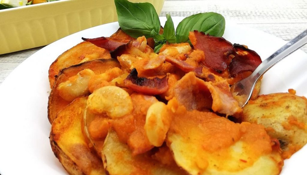 BAcon, Bean and Vegetable Bake