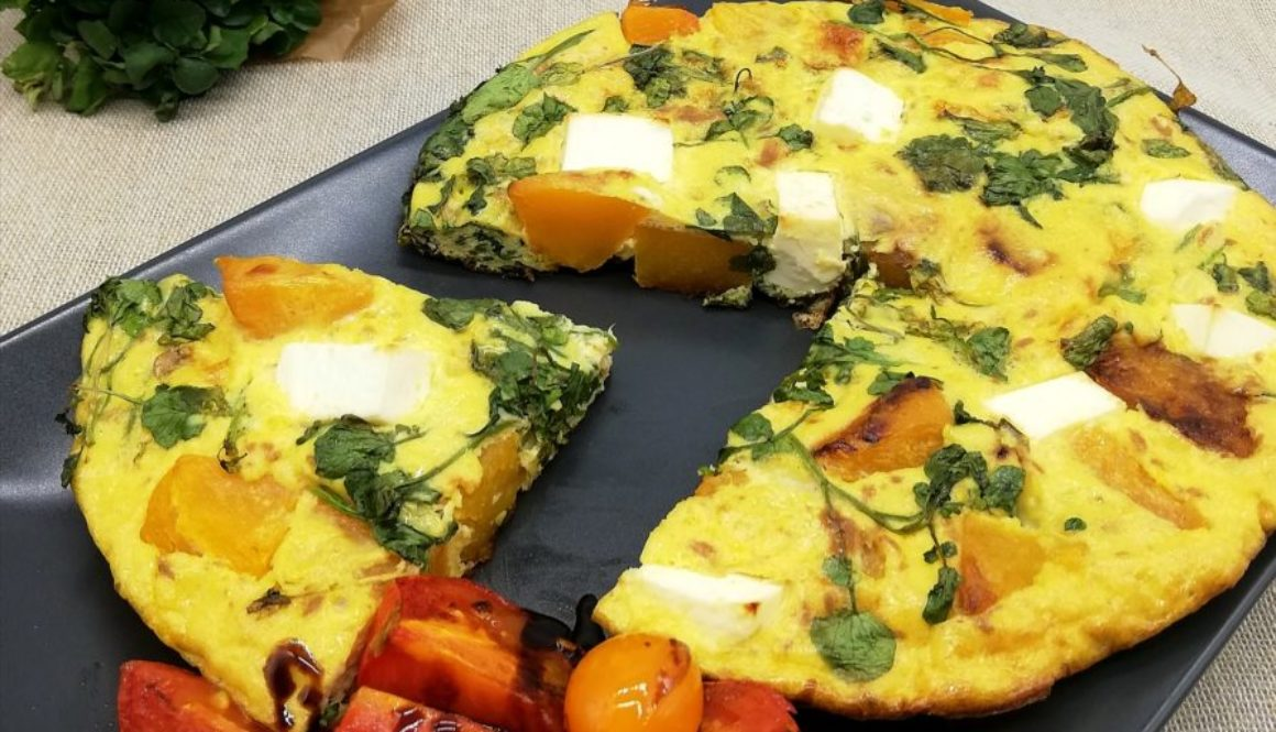 Butternut Squash, Watercress & Feta Frittata